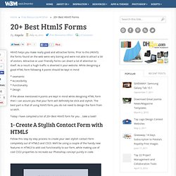 20+ Best Html5 Forms