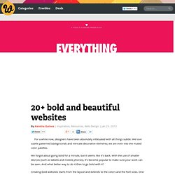 20+ bold and beautiful websites