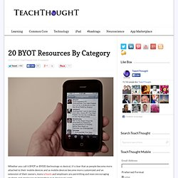 20 BYOT Resources By Category