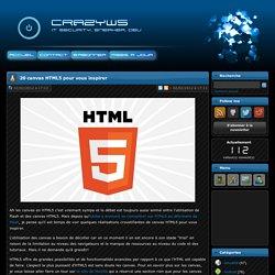 20 canvas HTML5 pour vous inspirer