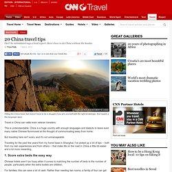 20 China travel tips