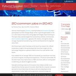 20 common jobs in 2040
