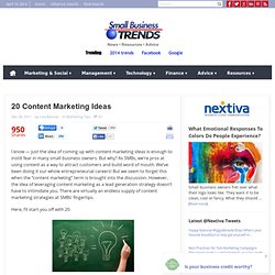 20 Content Marketing Ideas for 2012