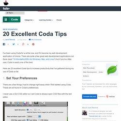 20 Excellent Coda Tips