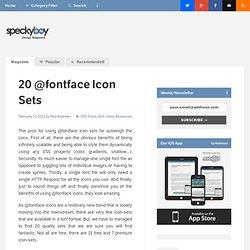 20 @fontface Icon Sets