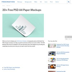 20+ Free PSD A4 Paper Mockups
