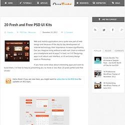 20 Fresh and Free PSD UI Kits