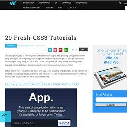20 Fresh CSS3 Tutorials