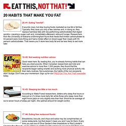 20 Habits That Make You Fat