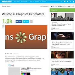 20 Icon & Graphics Generators