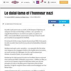 Le dalaï-lama et l'honneur nazi