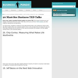 20 Must-See Business TED Talks