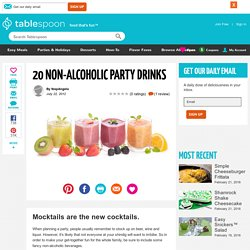 20 Non Alcoholic Party Drinks
