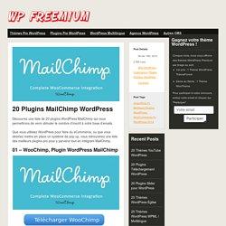 20 Plugins MailChimp WordPress