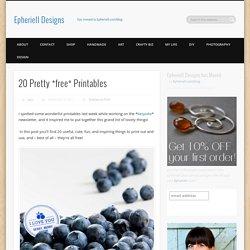 20 Printables Designs