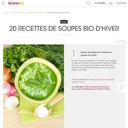 20 recettes de soupes bio d'hiver