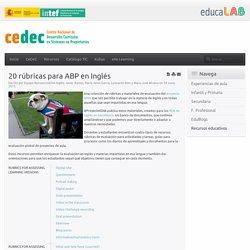 20 rúbricas para ABP en Inglés