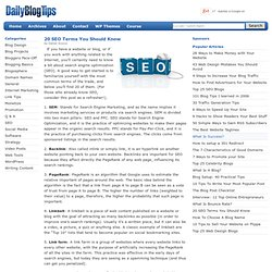 20 SEO Terms You Should Know