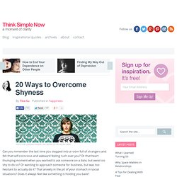 20 Ways to Overcome Shyness