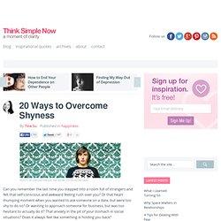 20 Ways to Overcome Shyness