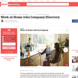 Work at Home Jobs - Work at Home Company Directory - Page 1