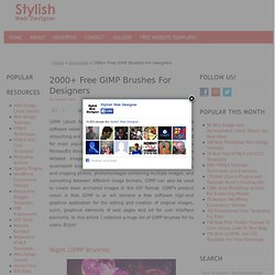 2000+ Free GIMP Brushes For Designers