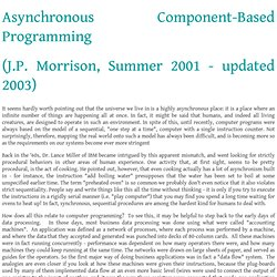 Asynchronous Component-Based Programming