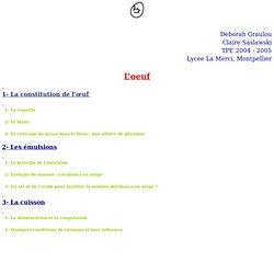 TPE 2004-2005 / Saslawski - Graulou/ L'oeuf