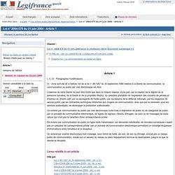 Loi pour la confiance dans l'économie numérique (2004)