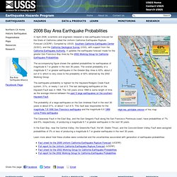 2008 Bay Area Earthquake Probabilities