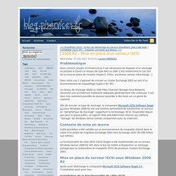 2008 R2 – Mise en place d'un serveur iSCSI