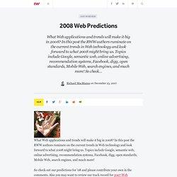 2008 Web Predictions - ReadWriteWeb