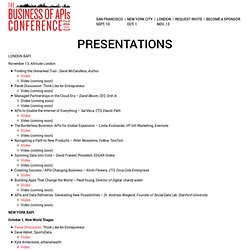 2009 Presentations and Video « The Business of APIs — brought to