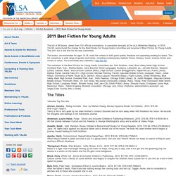 2011 Best Fiction for Young Adults