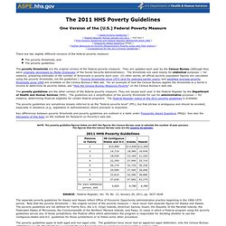 2011 HHS Poverty Guidelines