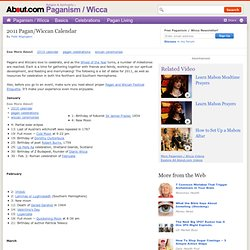 2011 Pagan/Wiccan Calendar