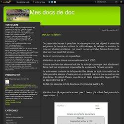 IRD 2011 Séance 1
