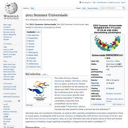 2011 Summer Universiade