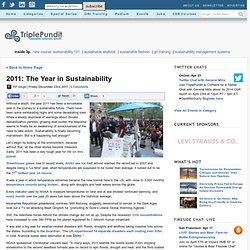 2011: The Year in Sustainability