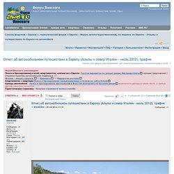 Отчет об автомобильном путешествии в Европу (Альпы и север Италии - июль 2012), трафик