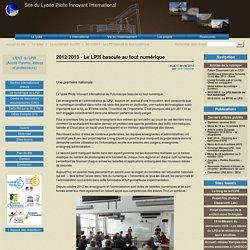 Le LP2I bascule au tout numérique - Site du Lycée Pilote Innovant International
