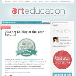 2012 Art Ed Blog of the Year – Results!