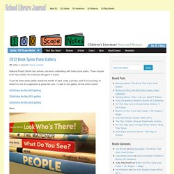 2012 Book Spine Poem Gallery