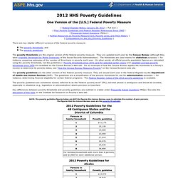 2012 HHS Poverty Guidelines
