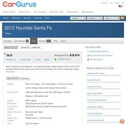 2012 Hyundai Santa Fe - Trim Information