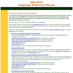 Ada 2012 Language Reference Manual