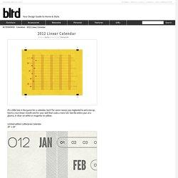 2012 Linear Calendar