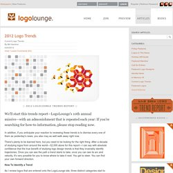 2012 Logo Trends on LogoLounge.com