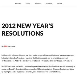 2012 New Year's Resolutions | iTibz
