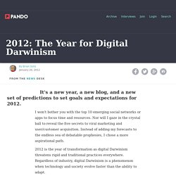 2012: The Year for Digital Darwinism